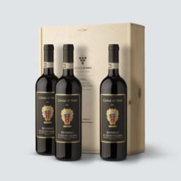 3x Brunello di Montalcino DOCG 2011- Casale di Valle – (cassetta legno)