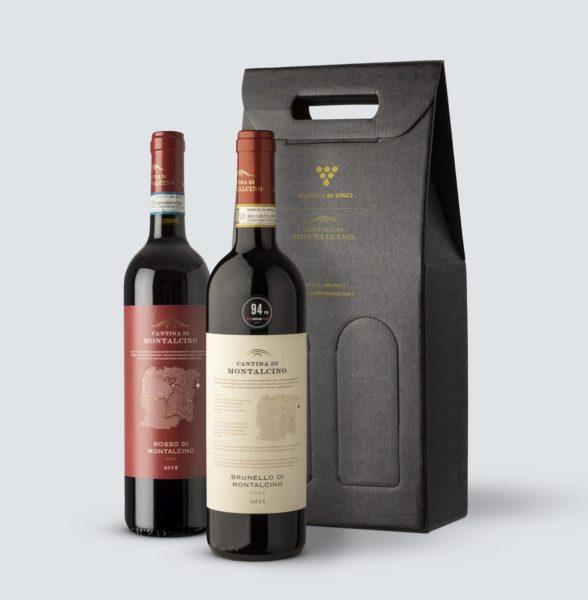 Brunello DOCG 2015 + Rosso di Montalcino DOC 2018 (Confezione REGALO)