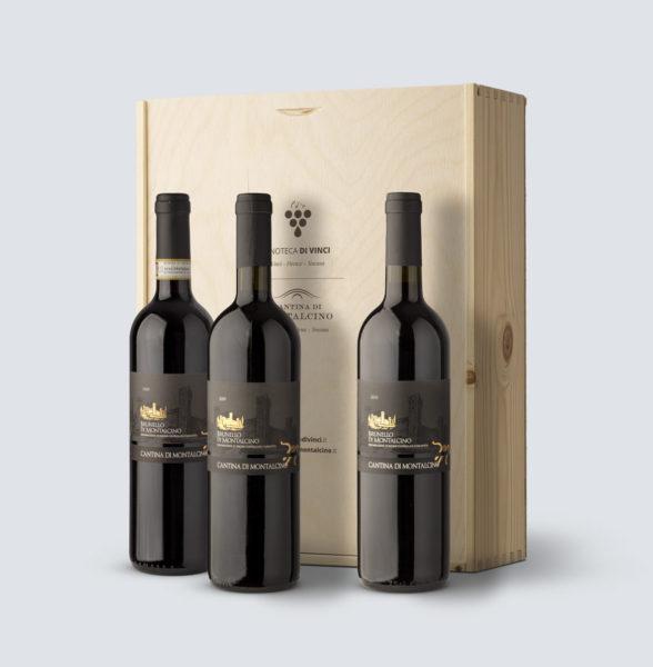 Verticale Brunello di Montalcino DOCG 2008 - 2009 - 2010 (cassetta legno)