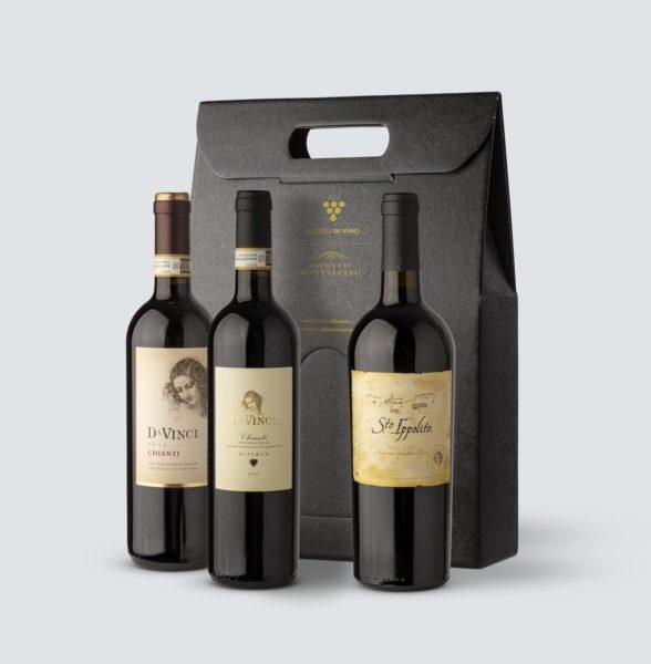 Santo Ippolito IGT 2013 + Chianti Riserva DOCG 2009 + Chianti DOCG 2018 - Da Vinci (confezione REGALO)