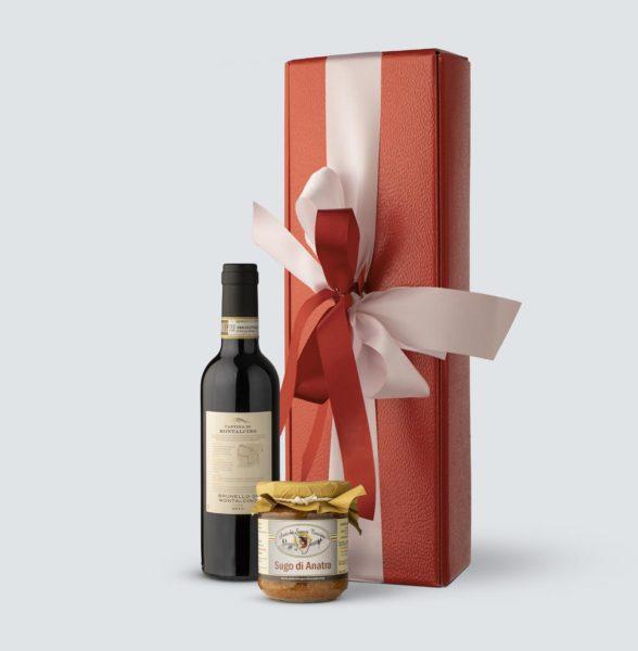 Brunello di Montalcino DOCG 2013 0,375 lt + Sugo di Anatra 180 gr (Confezione Regalo)