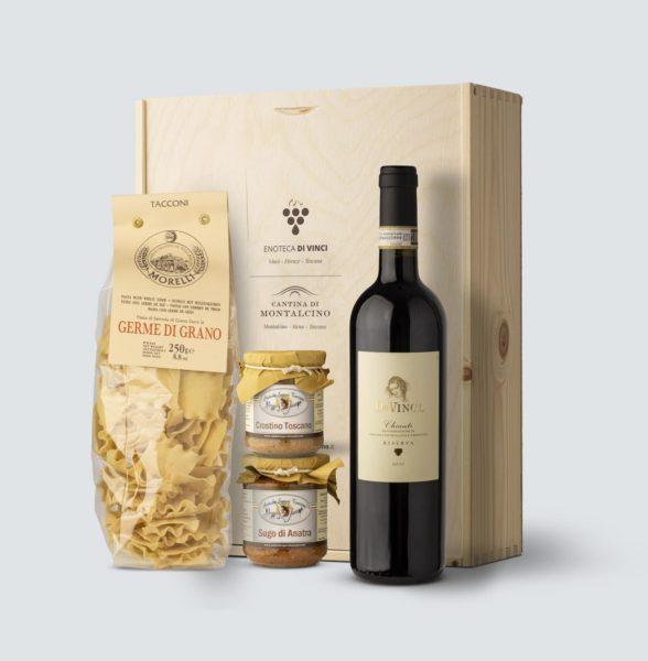 Da Vinci Chianti Riserva DOCG 2015 +Tacconi + sugo d'Anatra + crostino Toscano (cassetta legno)
