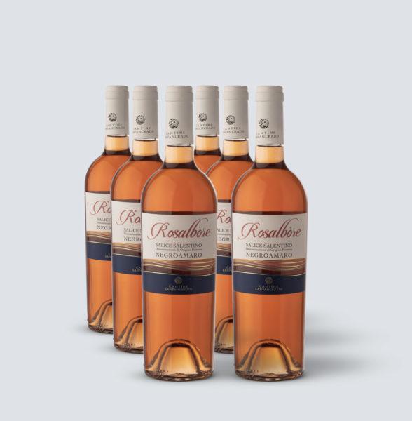 Rosalbore Salice Salentino Rosato 2017 (6 bottiglie)
