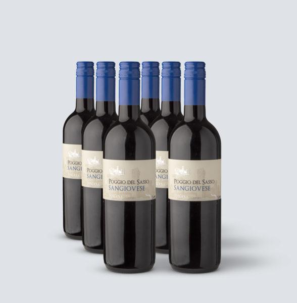 Sangiovese IGT 2016 - Poggio del Sasso - tappo Stelvin (6 bottiglie)