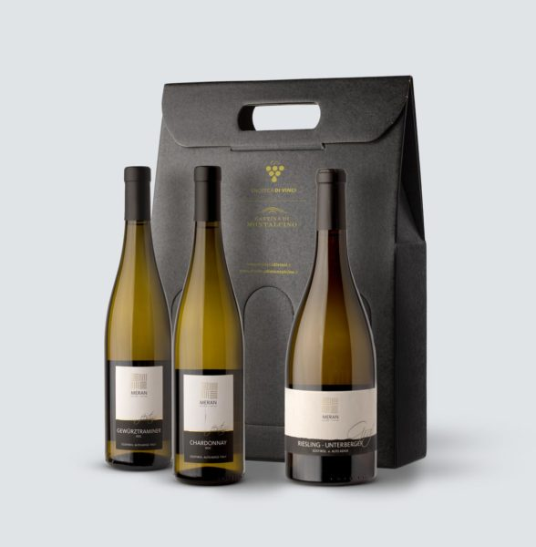 Meran - Chardonnay DOC 2017 + Gewrtztraminer DOC 2019 + Riesling Graf DOC 2018 (confezione REGALO)