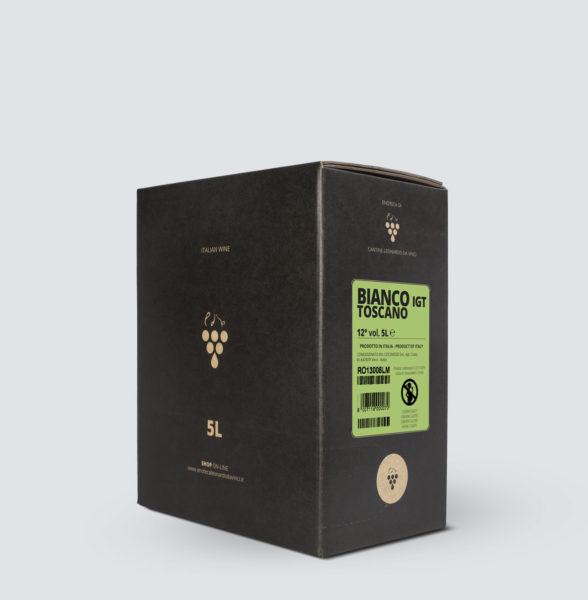 Bag in Box vino Bianco Toscano IGT 5 Lt - € 3,8/litro
