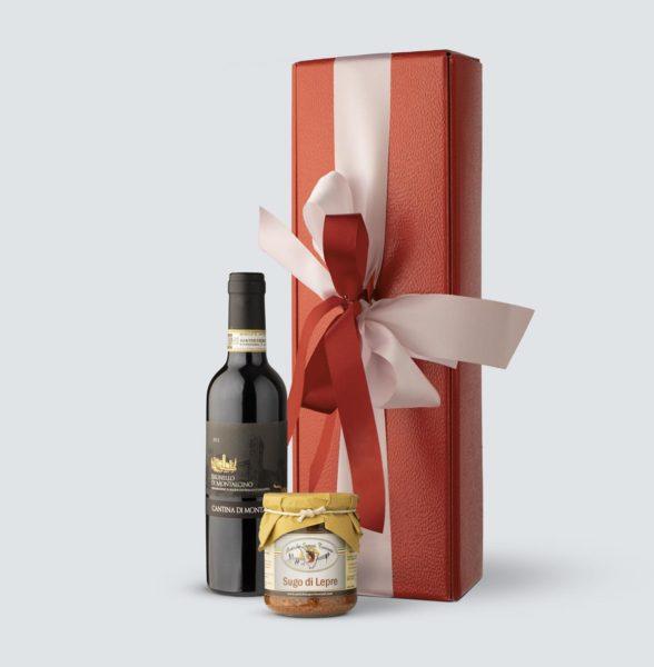 Brunello di Montalcino DOCG 2012 0,375 lt + Sugo di Lepre 180 gr (Confezione Regalo)