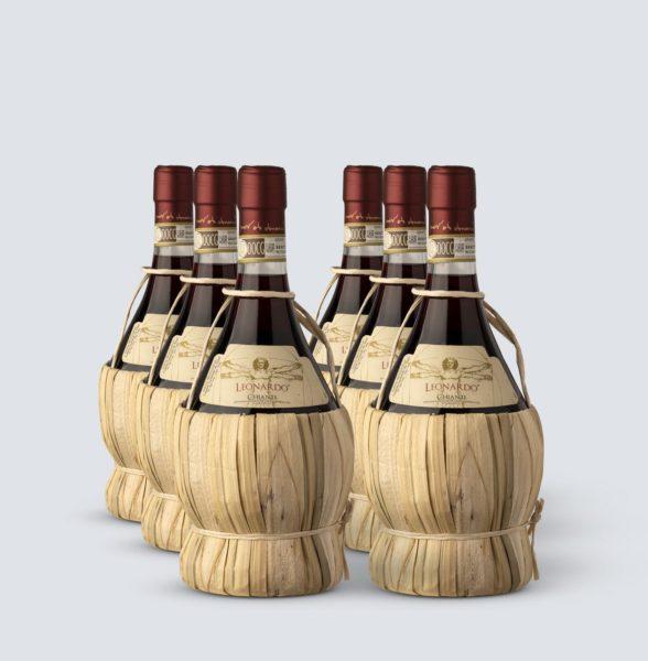 Chianti DOCG 2017 Fiasco (0,75 lt) - Leonardo (6 bottiglie)