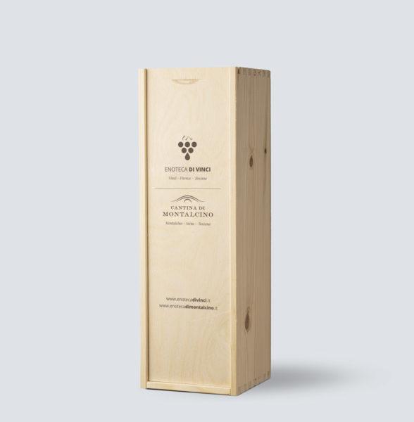 Cassetta in legno da 1 bottiglia - Enoteca di Vinci e Montalcino